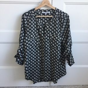 Collective Concepts 3/4 Length Womens Work Blouse